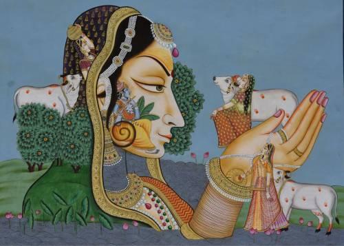 Krishna with Gopis by Narendra Kumar