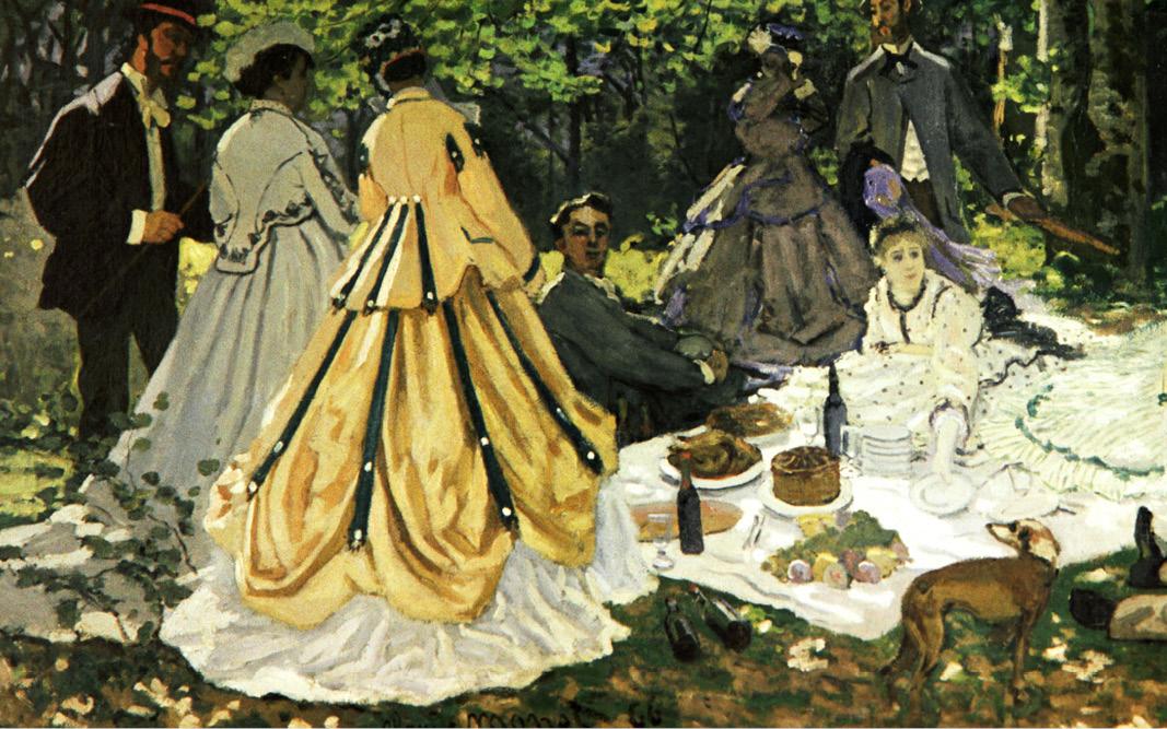 Le Déjeuner sur l'herbe (or Luncheon on the Grass) by Claude Monet